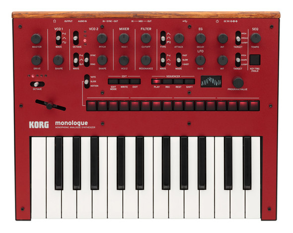 Korg Monologue Monophonic Analogue Synthesizer, Red