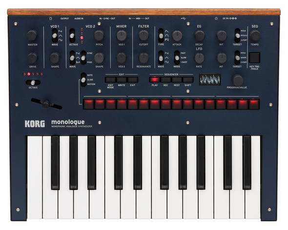 Korg Monologue Monophonic Analogue Synthesizer, Dark Blue