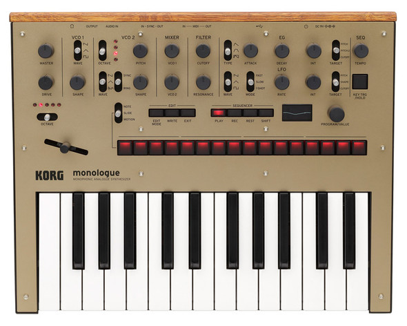 Korg Monologue Monophonic Analogue Synthesizer, Gold