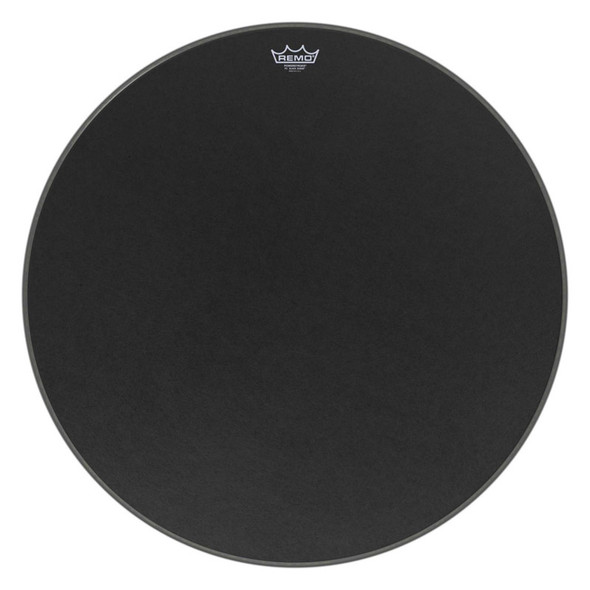 Remo P3-1824-ES Powerstroke P3 Black Suede 24-inch Bass Drum Head