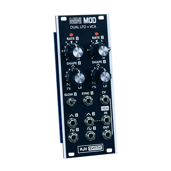 AJH Synth Dual LFO and VCA Eurorack Module, Dark Edition