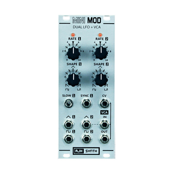 AJH Synth Dual LFO and VCA Eurorack Module, Silver