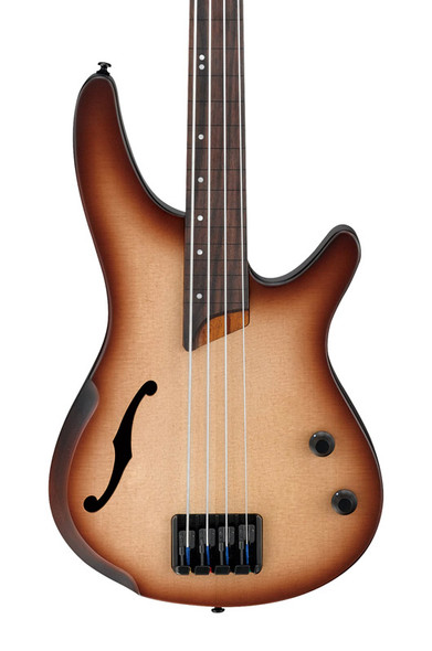 Ibanez SRH500F-NNF Bass Guitar, Natural Browned Burst Flat