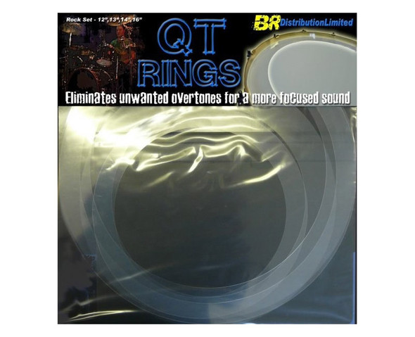 QT Rings Drum Overtone Control System, Rock Sizes