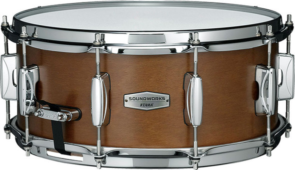 Tama Soundworks 14 x 6 Inch Snare Drum in Matte Brown Kapur