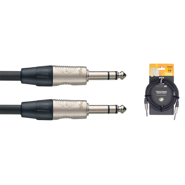 Stagg NAC1PSR 1m/3ft Balanced 1/4 inch Jack to Balanced 1/4 inch Jack Cable