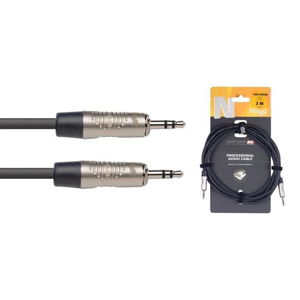Stagg NAC3MPSR 3m/10ft Stereo Minijack to Stereo Minijack Cable