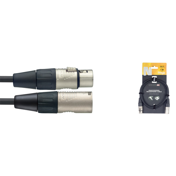 Stagg NMC1R 1M/3FT XLR to XLR Microphone Cable