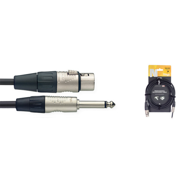 Stagg NMC1XPR 1m/3ft Female XLR to Mono Jack Cable