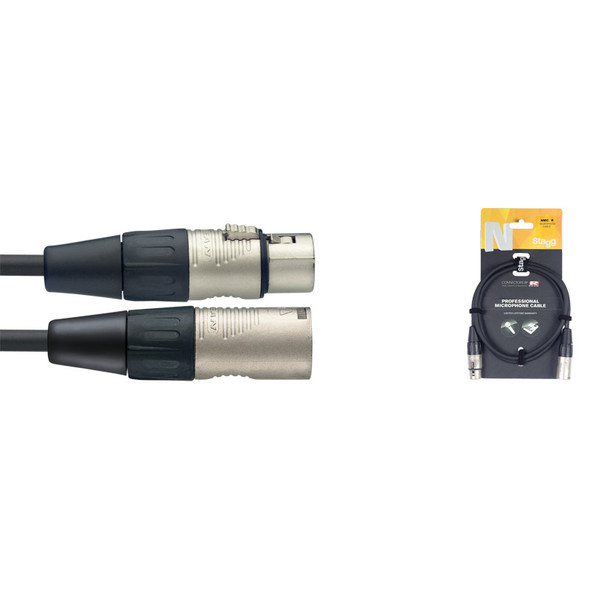 Stagg NMC3R 3m/10ft XLR to XLR Microphone Cable