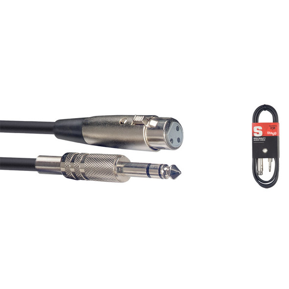 Stagg SAC3PSXF DL 3m/10ft Female XLR to Balanced Jack Cable