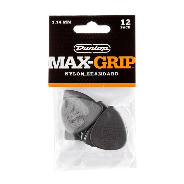 Dunlop Max-Grip 1.14mm Standard Nylon Plectrum (Pack of 12)