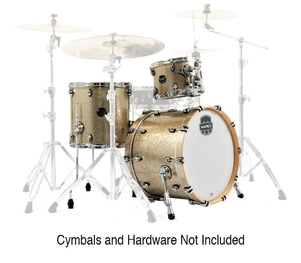 Mapex Saturn V Tour Edition 22-inch 3-piece Shell Pack, Vintage Sparkle
