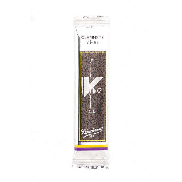 Vandoren V12 Bb Clarinet Reed, Strength 3.5, Single