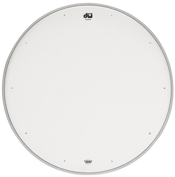 DW White Coated Snare Drum Batter Head, 13-inch