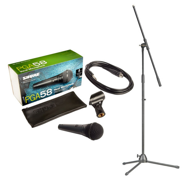 Shure PGA58-QTR Handheld Dynamic Microphone inc. Cable and Stand