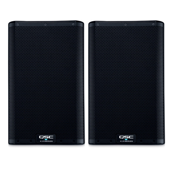 QSC K8.2 Active PA Speakers, Pair