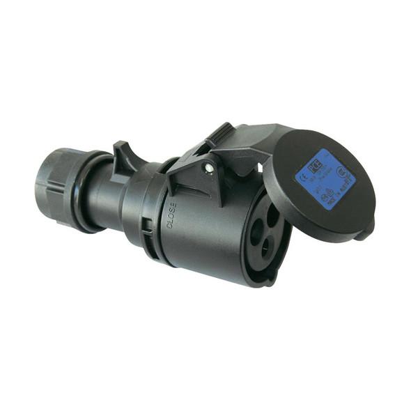 PCE 213-6X 16A 230V 3P CEE Industrial Socket, IP44, Black