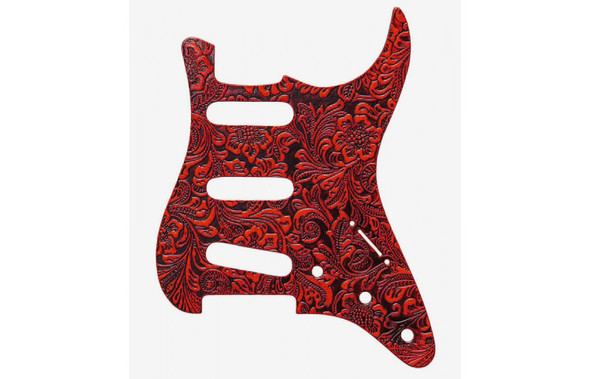Right On Straps Pickguard S-Style, Floral Red