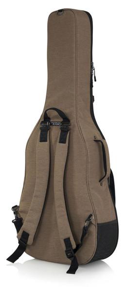 Gator GT-ACOUSTIC-TAN Transit Series Acoustic Guitar Gig Bag, Tan
