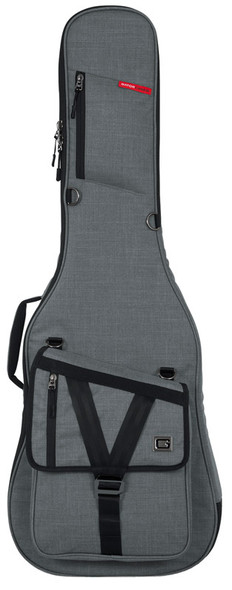 Gator GT-ELECTRIC-GRY Transit Series Electric Guitar Gig Bag, Grey