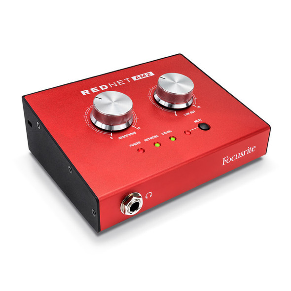 Focusrite RedNet AM2 Stereo Dante Headphone Amp and Line Output with PoE