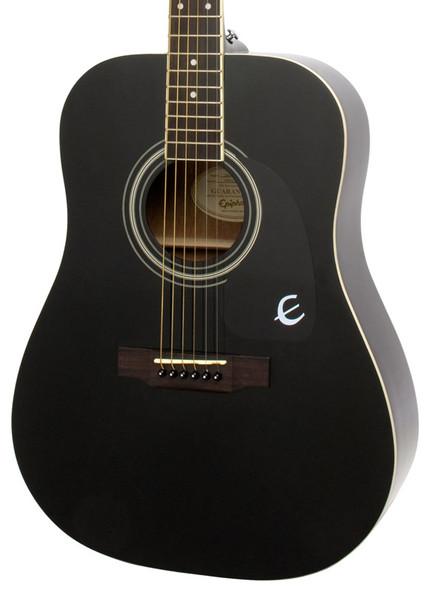Epiphone DR-100 Dreadnought Acoustic Guitar, Ebony