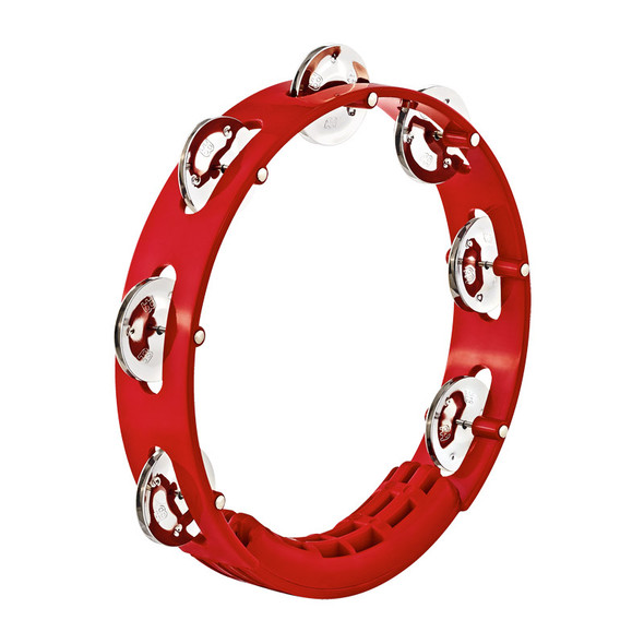 Meinl HTT8R Percussion Headliner Series Tour Tambourine 1 Row, Red
