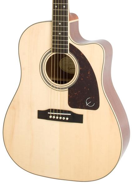 Epiphone AJ-220SCE Advanced Jumbo Electro Acoustic Guitar, Natural