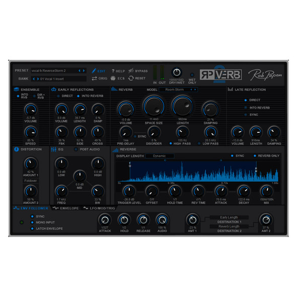 Rob Papen RP-Verb 2 Plug-In Reverb Effect (Download)
