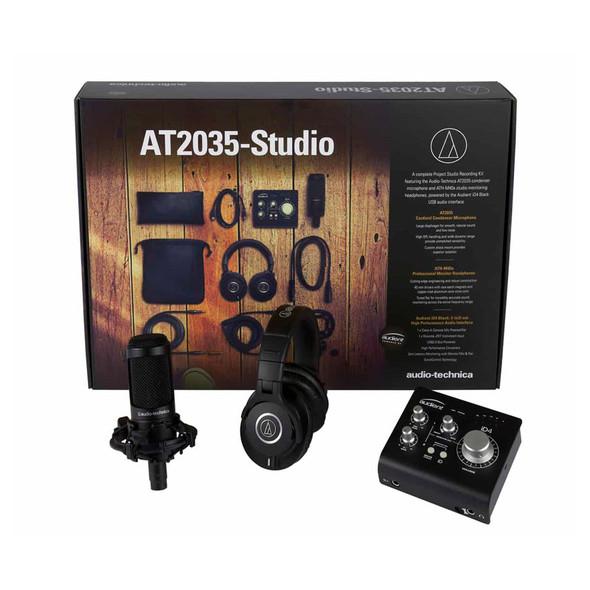 Audio Technica AT2035 Studio Bundle, Audient iD4, ATHM40X Headphones & Software
