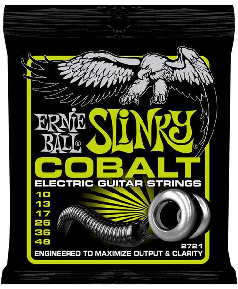 Ernie Ball Cobalt Regular Slinky Electric Guitar Strings 10-46