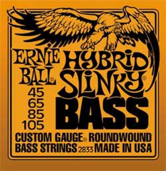 Ernie Ball Hybrid Slinky Bass Guitar Strings 45-105
