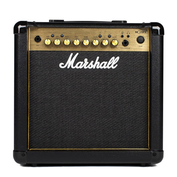 Marshall MG15GFX 15W Guitar Combo with FX, Gold