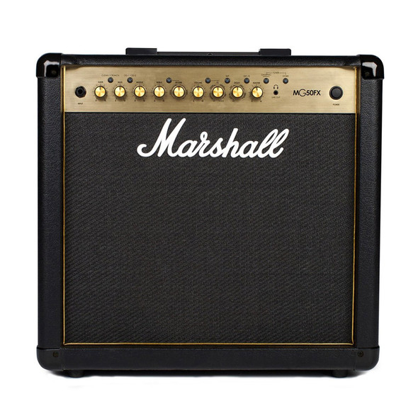 Marshall MG50GFX 50W 1 x 12 Guitar Combo with Reverb & Digital Effects, Gold