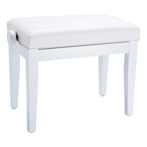Roland RPB-300WH Rise & Fall Piano Bench, White, Cushion Vinyl Top