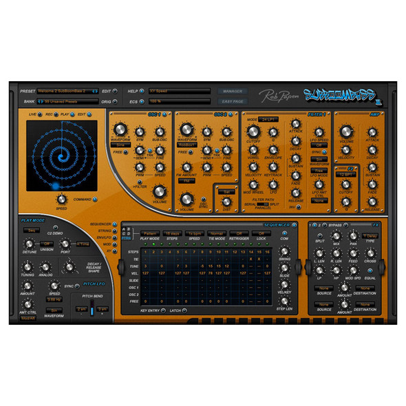 Rob Papen SubBoomBass II Bass Synth Plug-In (Download)