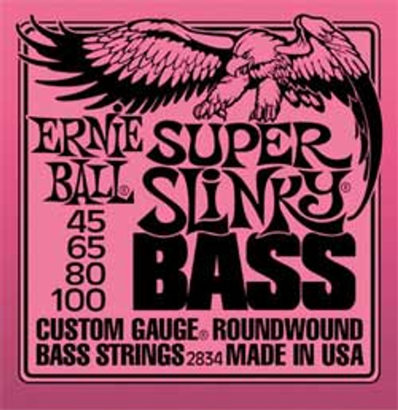 Ernie Ball Super Slinky Bass Guitar Strings 45-100