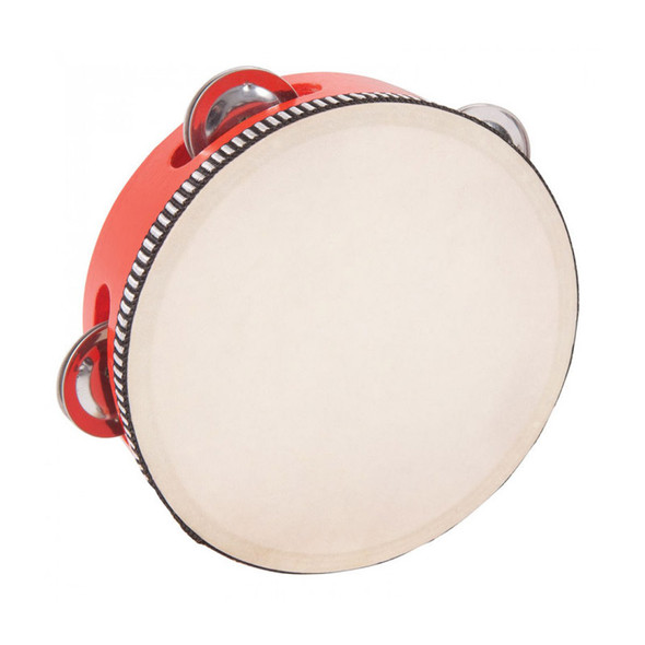 PP 15cm World Tambourine, Red