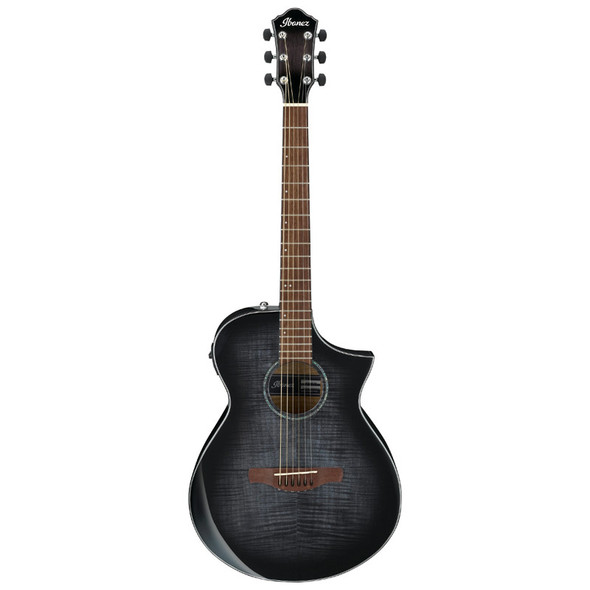 Ibanez AEWC400-TKS Electro-Acoustic Guitar, Transparent Black Sunburst