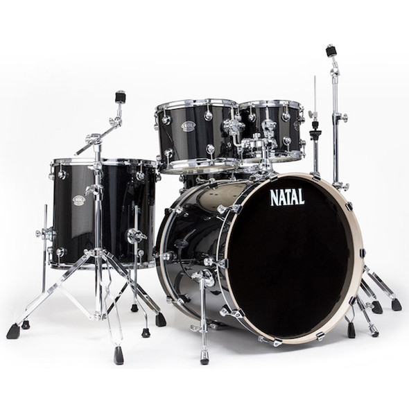 Natal Arcadia 10,12,16,22 complete with Hardware in Black Sparkle