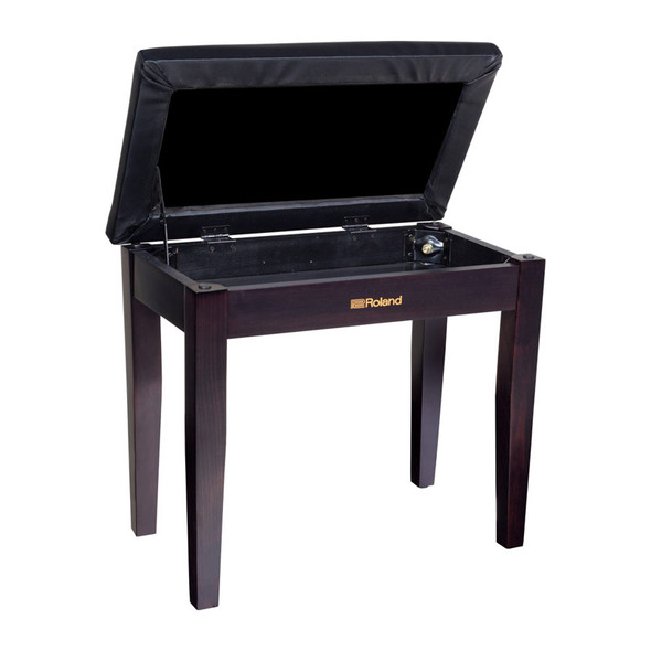 Roland RPB-100RW Piano Bench, Rosewood, With Storage Compartment