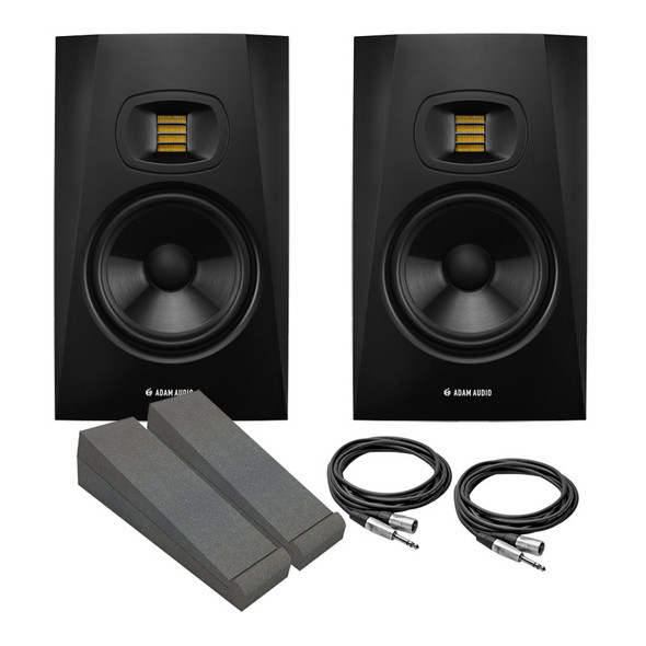 Adam T7V Active Studio Monitor Bundle With Pads and Cables