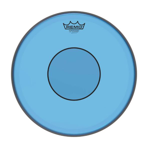 REMO P7-0314-CT-BU Powerstroke 77 Colortone 14 inch Snare Batter Head, Blue