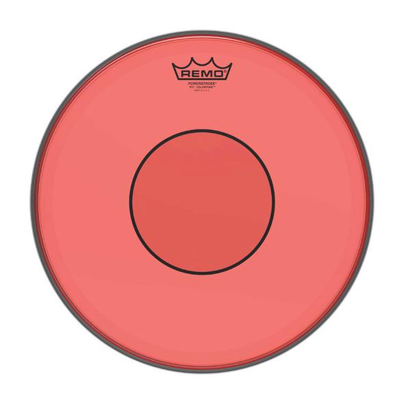 REMO P7-0314-CT-RD Powerstroke 77 Colortone 14 inch Snare Batter Head, Red