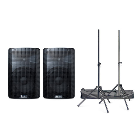 Alto TX210 Active PA Speaker Bundle with Stands and Cables