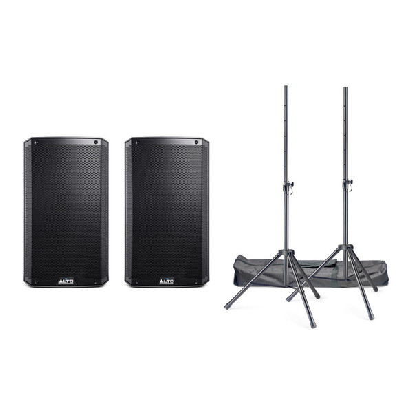Alto TrueSonic TS312 Active PA Speaker Bundle with Stands and Cables