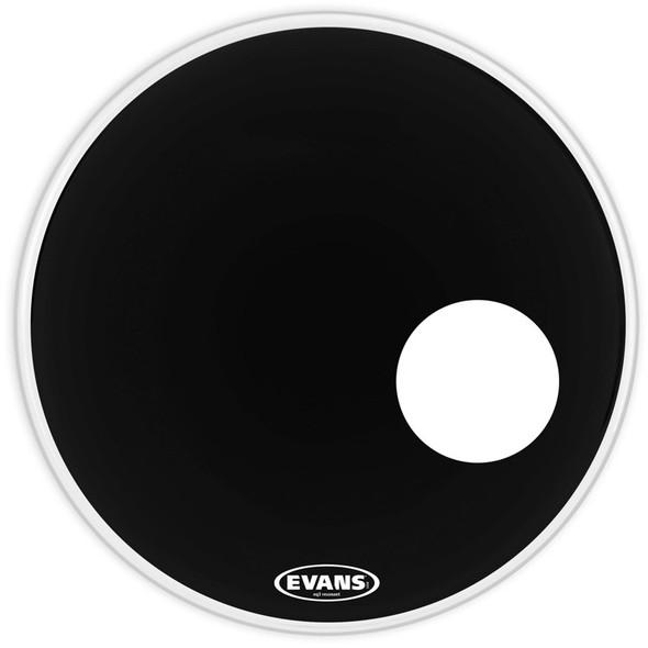 Evans BD22RB 22 Inch EQ3 Black Resonant Bass Drum Head with port