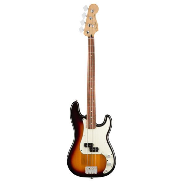 Fender Player Precision Bass Guitar, 3-Colour Sunburst, Pau Ferro