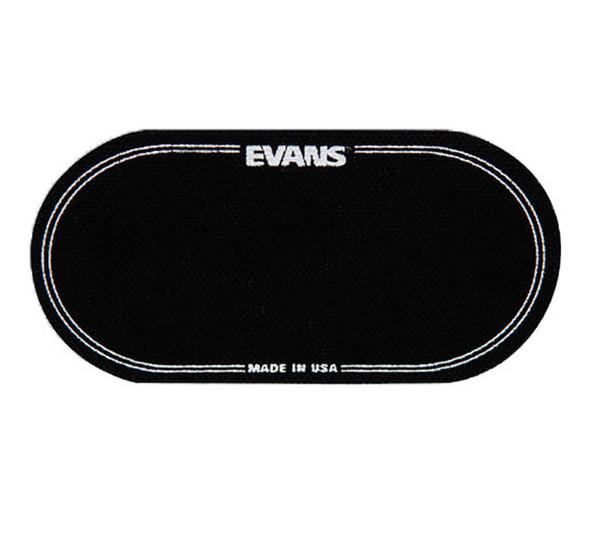 Evans EQPB2 EQ Patch Black Nylon Bass Drum Patch Double Pedal (2 Pcs)